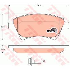 Комплект тормозных колодок, дисковый тормоз RENAULT MEGANE II 02-05.GDB1552